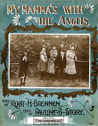 Mamma With Angels 1902 Sheet Music Angel And Sheet Music Art