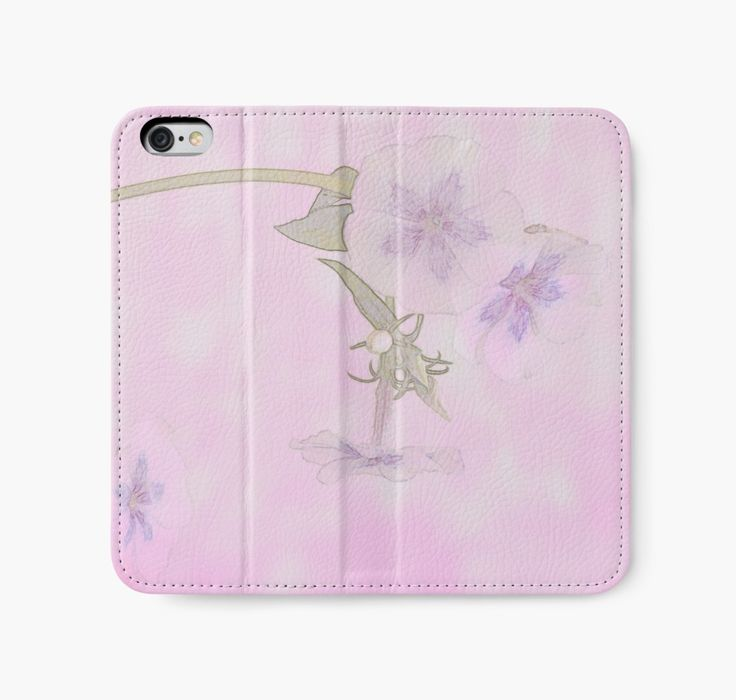 iPhone Wallet. Purple And White Phlox - Digital Watercolor by Sandra Foster.  https://www.redbubble.com/people/sandrafoster/works/13452301-purple-and-white-phlox-digital-watercolor?p=iphone-wallet