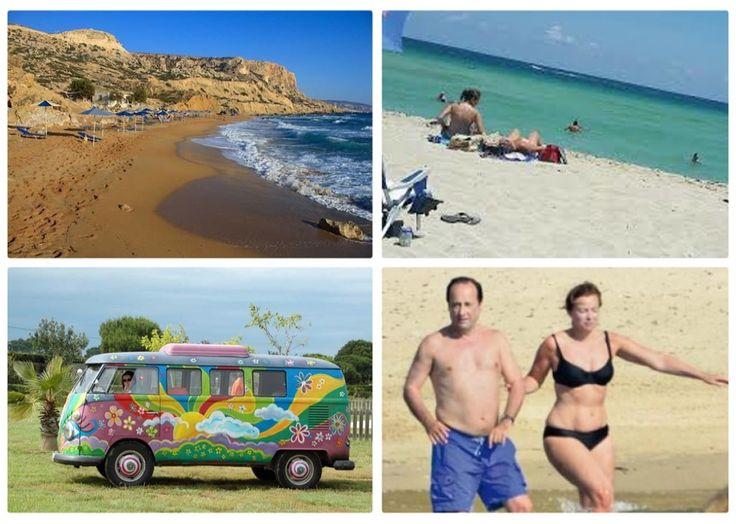 Лучшие нудистские пляжи мира «Кокини Аммос», Греция В этом сезоне Греция входит в число самых популярных у россиян направлений отдыха. Нудистских пляжей в солнечной Элладе хватает. Самый известный прячется у небольшого поселка Матала на Крите. «Кокини Аммос», или Red Beach (песок там красного цвета), облюбовали еще хиппи в 60-х годах прошлого века. Как известно, «дети цветов» тоже любили разгуливать в чем мать родила. Северная часть пляжа защищена скалистым известняком, а попасть на «Кокини…