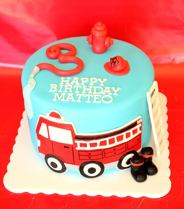 25+ Best Ideas About Fire Truck Cakes On Pinterest