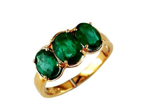 2.50 ct Ladies Emerald Ring in 14k Yellow Gold., Size 7.5 Grande Jewelry. $1300.00
