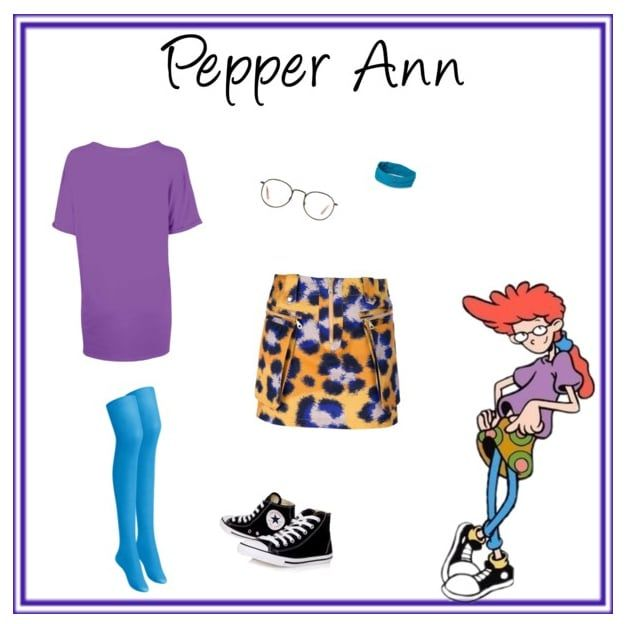 Pepper Ann of Pepper Ann. Top by Fashion Union, $12. Skirt by Kenzo at FarFetch, $490. Tights by Uniqlo, $6.50. Sneakers by Kurt Geiger, $70. Headband by Rei, $10. Glasses by Glasses Direct, $147.