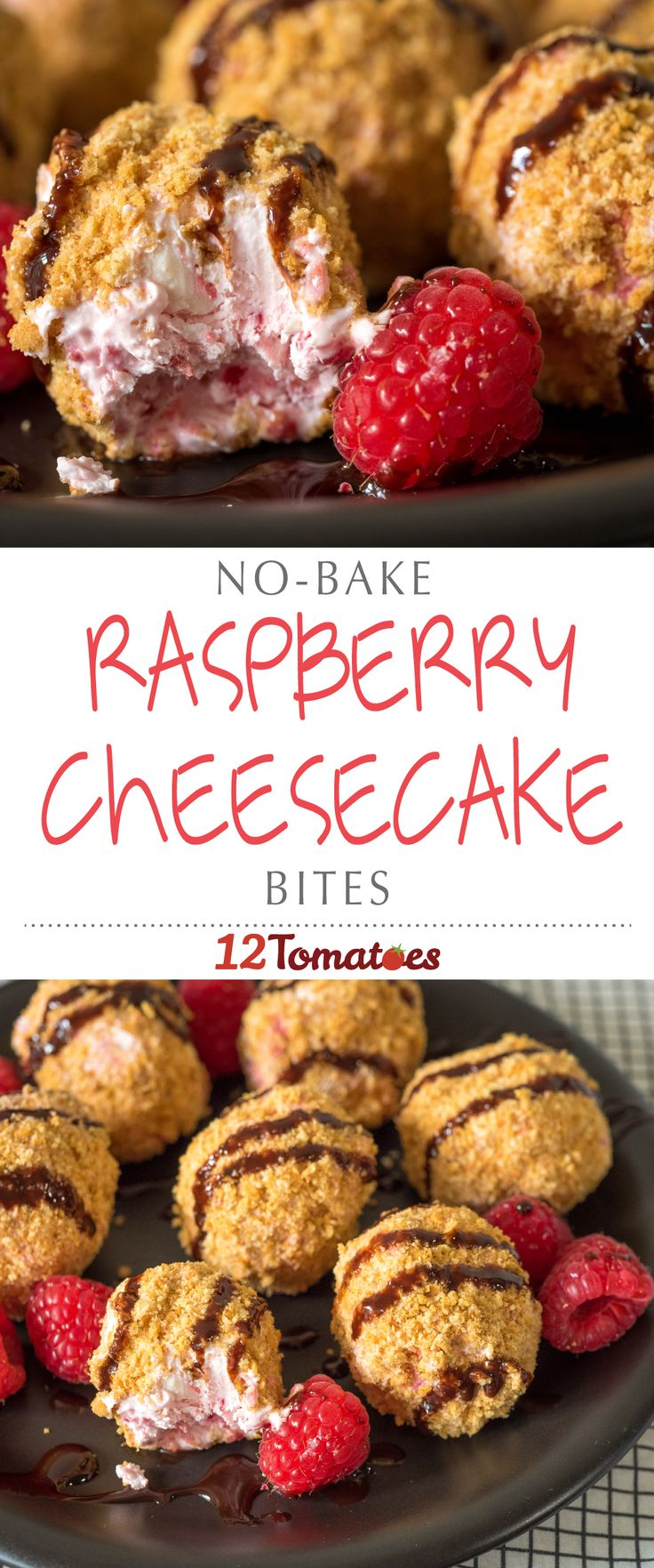 No-Bake Raspberry Cheesecake Bites | bite-sized treats that you can get out of the fridge or freezer whenever you need a boost? Yes, please. Two of those and you'll be feeling better in no time!