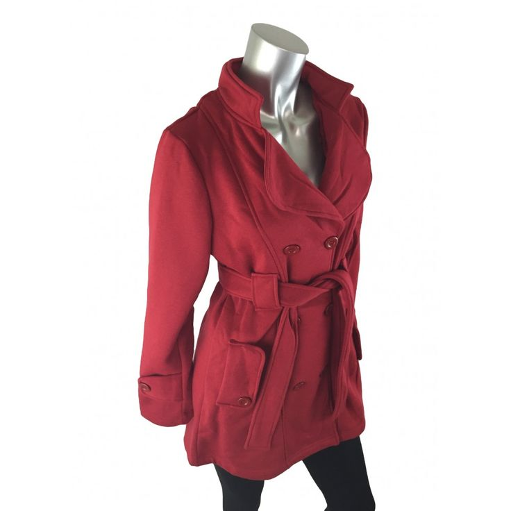 Caroline Morgan Red Button Jacket