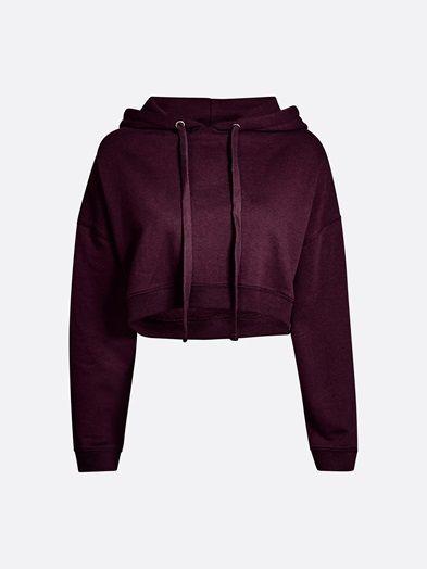 Shorty sweater | 7189341 | Punainen | BikBok | Suomi