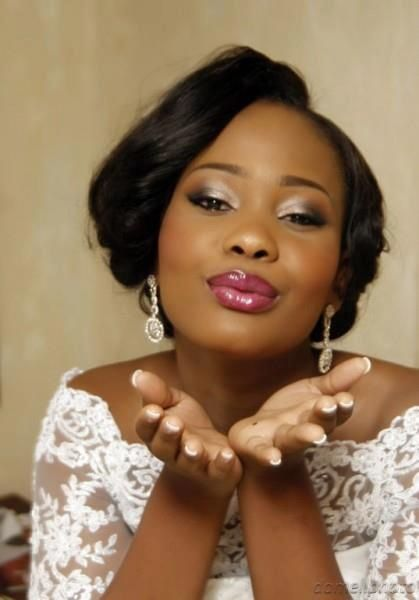 Wedding Makeup Idea For Sister Bridal Medium To Dark Brown Skin With Color Pop On The Lips
