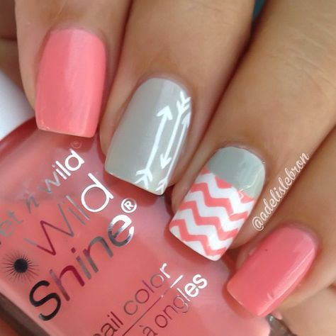 Arrows are the latest #NailArt trend #DIY #manicure