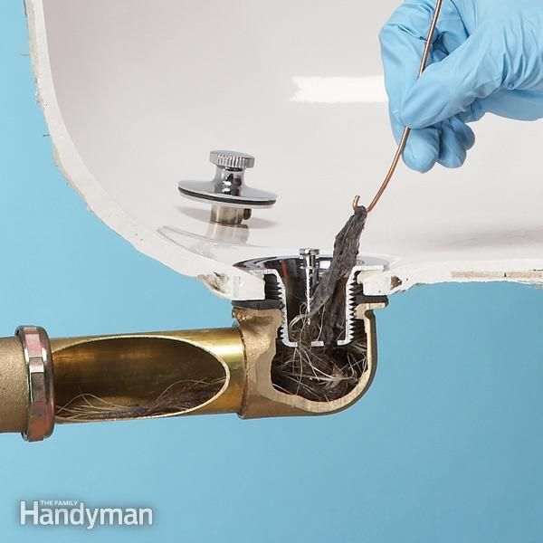 Fix a clogged tub drain quickly and easily by removing the stopper and fishing out the hair and gunk that causes the problem 80 percent of the time. We show you how to open most common types of drains.