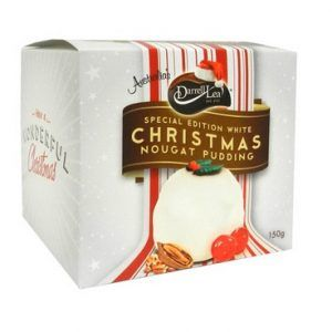 A bulk shipper of 6 boxes of Christmas Nougat Pudding White by Darrell Lea.