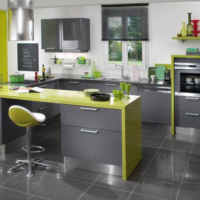 Cuisine verte design, Lapeyre - Marie Claire Maison
