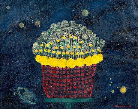 Alice Kaira: Kukkia, 1971, öljy kankaalle, 65x81 cm - Bukowskis