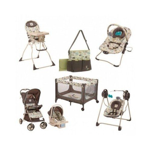 Baby Infant Toddler Travel System Bundle W Diaper Bag