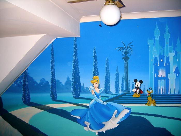 27 best images about olivia 39 s mural on pinterest disney for Disney castle mural wallpaper