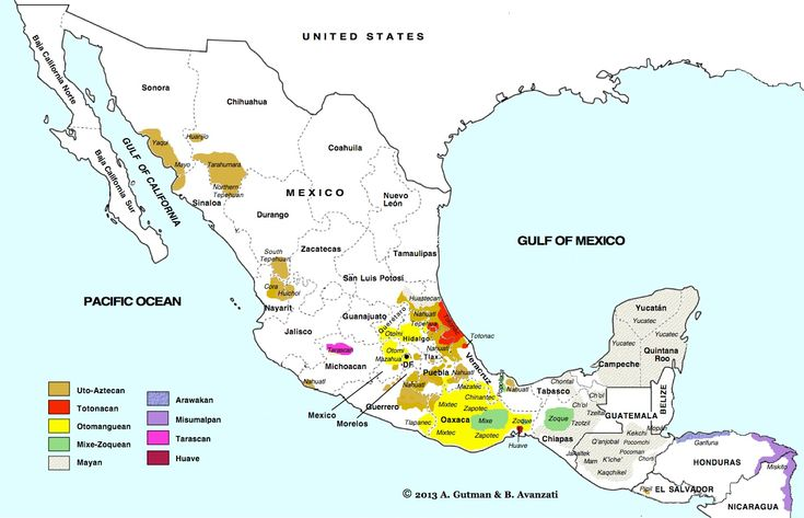 Map Language Spoken Mexico
