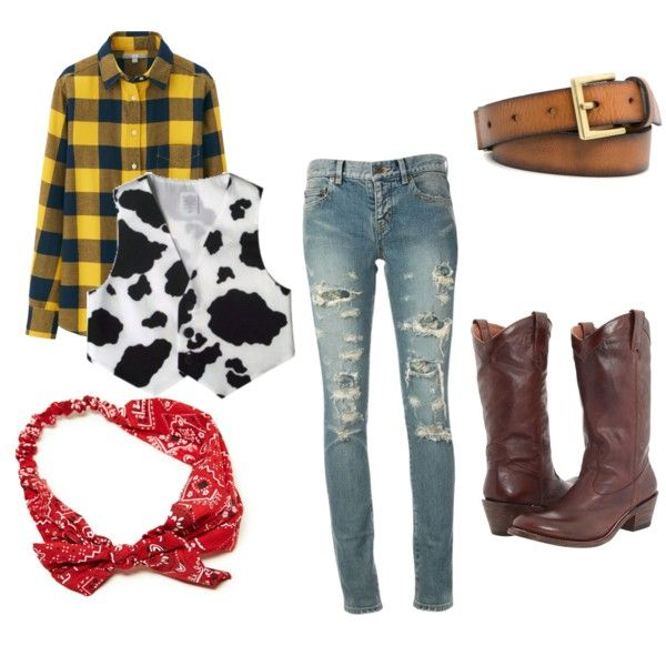"""DIY WOODY COSTUME"" by erin-palazzetti on Polyvore"