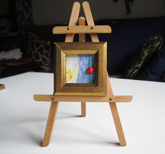 Piccolo arte astratta arte spilla regalo collana regalo decorazione casa regalo Natale tendenza moda compleanno laurea anniversario unisex