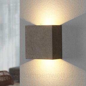 Yva - LED-Wandleuchte aus Beton
