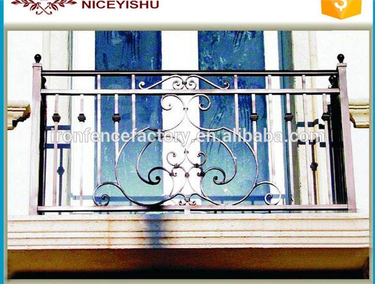 Tubo de acero galvanizado balcón barandilla de hierro forjado valla en venta/diseños modelo italiano balcón de hierro forjado/hierro Parrilla-imagen-Barandillas y Pasamanos-Identificación del producto:60462763261-spanish.alibaba.com