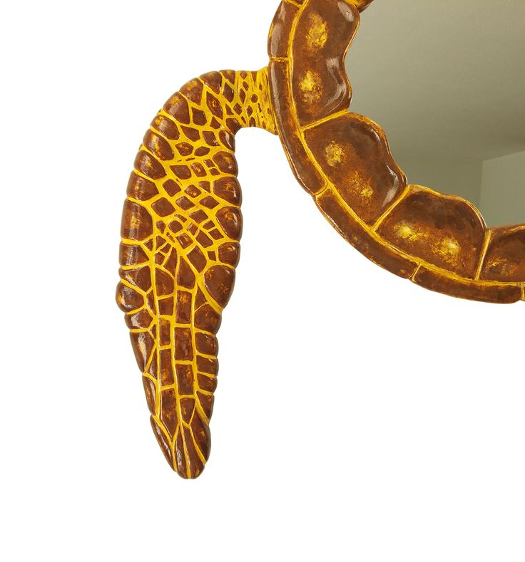 Sea Turtle fin - hand made art mirror in the form of a sea turtle. Such a fine piece from MarvellousMirrors collection of wall mirrors. Now available at Etsy & Amazon Handmade.