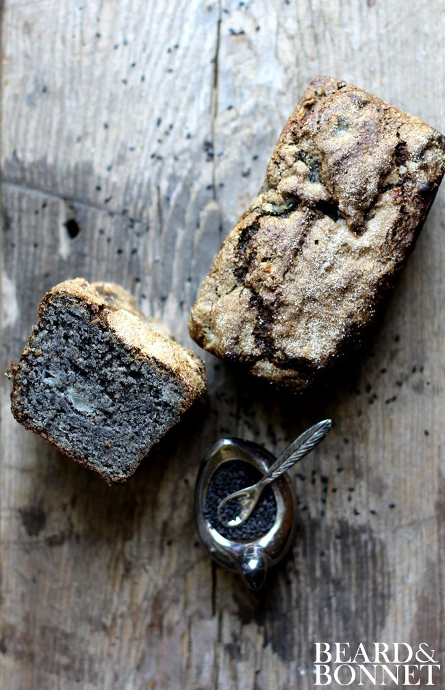 Black Sesame and Pear Tea Cake {Beard and Bonnet} #gfree #projectlunchbox