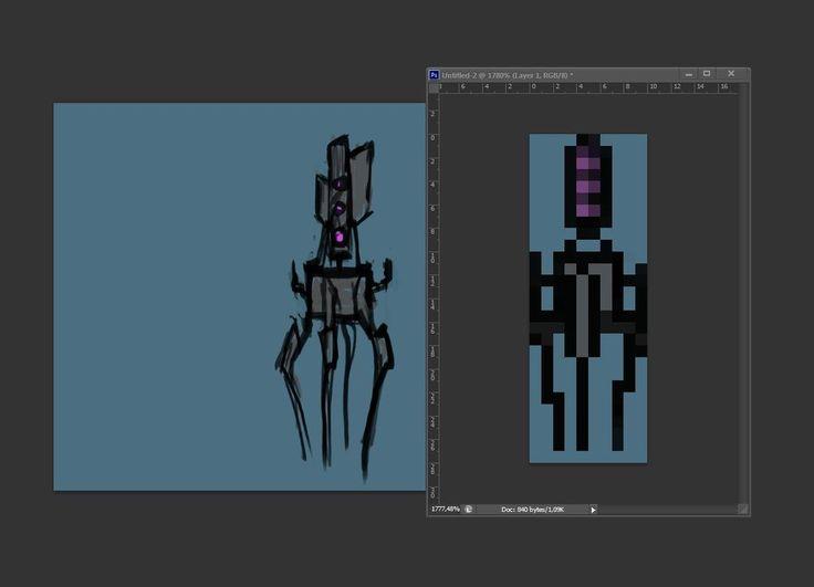 Designing evil characters for pixelart platformer.