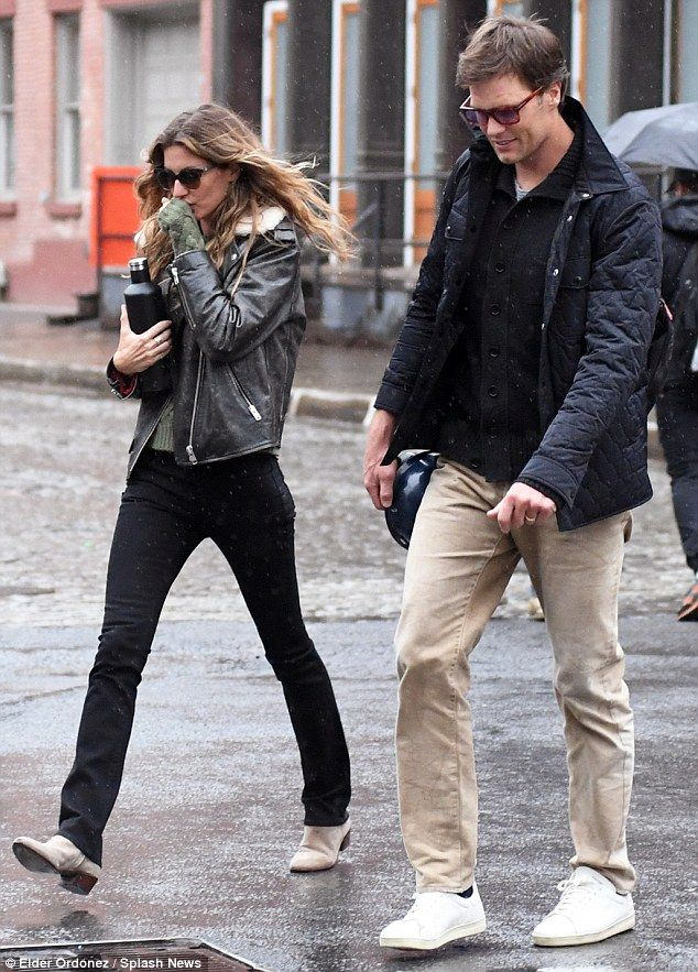Work in progress! Gisele Bundchen and husband Tom Brady visited the construction site of t...