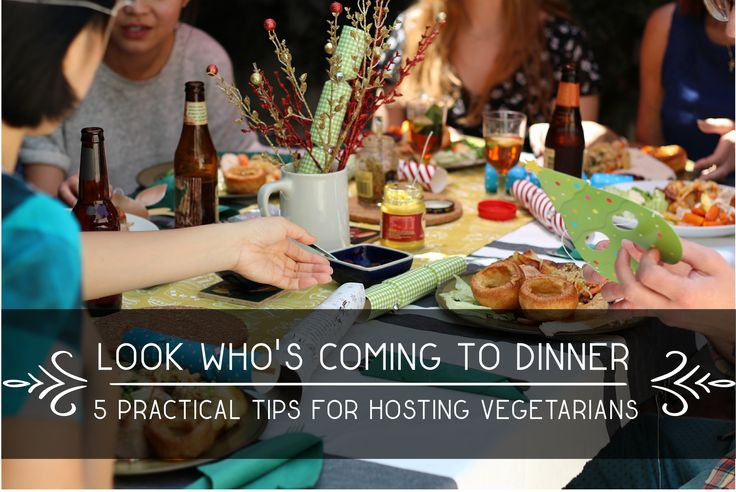 Do you have some vegetarians coming over and have no idea where to start? Look no further. Just follow these 5 practical tips for hosting vegetarians.