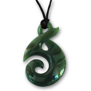 Koru Twist Greenstone Jade Pendant Greenstone \/ Jade pendant, Koru Twist design. Available in 30mm, 35mm, 40mm and 45mm size.
