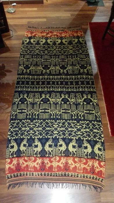 Catawiki online auction house: Ikat hinggi kombu male cloth - East Sumba - Indonesia