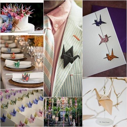 A paper crane wedding
