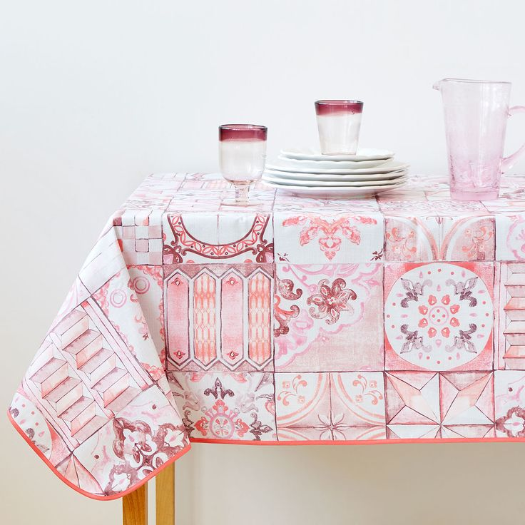 Image 1 of the product LAMINATED TILE PRINT TABLECLOTH