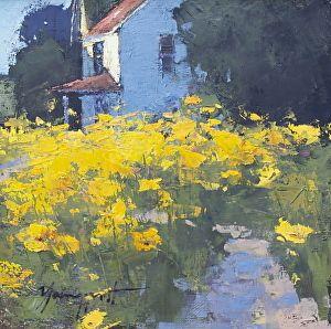 Romona Youngquist Golden Poppies Oil 12 x 12