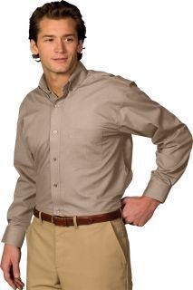 Edwards 1295 Men's Easy Care Poplin Long Sleeve Shirt