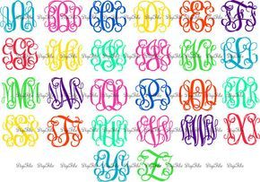 Entwined Vine Monogram Alphabet SVG DXF EPS for Silhouette, Makes the Cut, Sure Cuts A Lot, Cricut Design Space, Vinyl Cutters