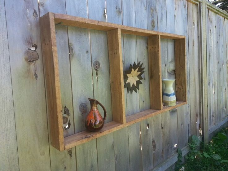Fence shelves from pallets