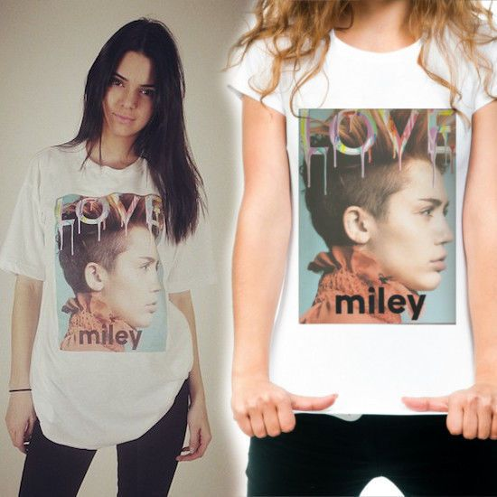 MILEY CYRUS LOVE COVER T-SHIRT AS WORN BY KENDALL JENNER #Unbranded #Graphic