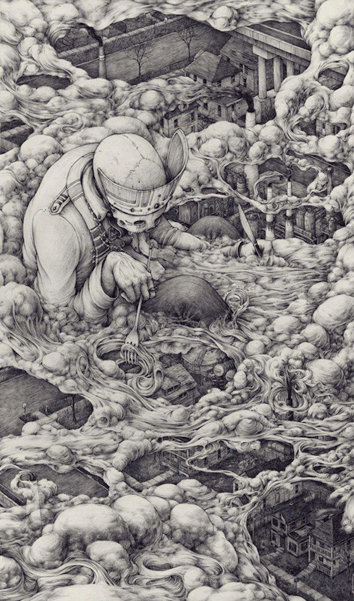 Les dessins et illustrations géniales de complètement délirantes de Pat Perry. Du très très lourd à déguster sans aucune modération.