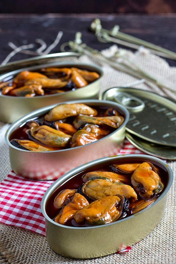 Yerbabuena en la cocina: #saboreaespaña.Mejillones en escabeche picante para el día mundial de la tapa