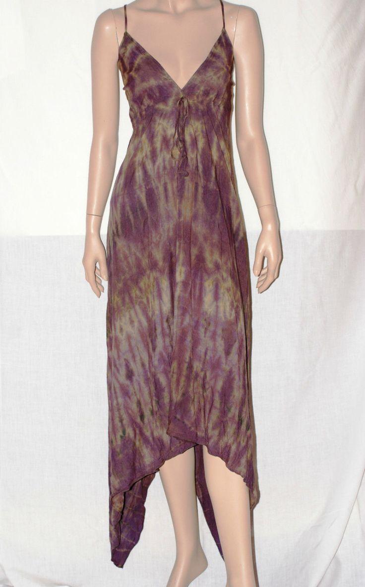 Gipsy Summer!! Purple Batik Cotton Dress Size S/M Vestito Abito Donna Lungo Maxi Dress Spalline Batik Viola Cotone Hippie Boho Taglia S/M di BeHappieWorld su Etsy