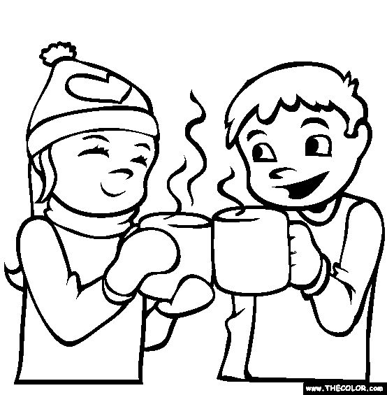 man drinking coloring pages - photo#20