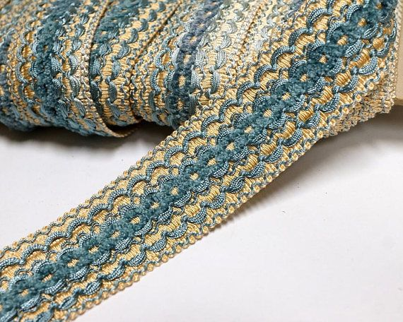 Gorgeous brown and gold fringe lace trim for designing sewing 1 metre 2.5cm