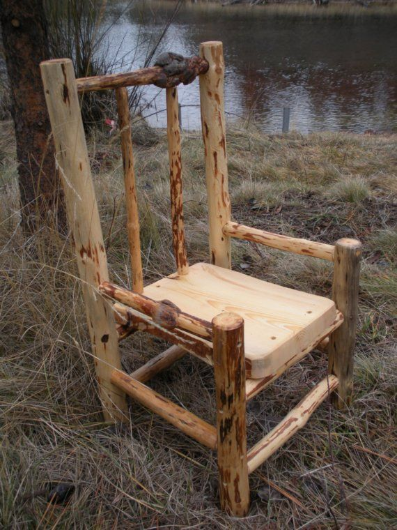 BEAUTIFUL log chair