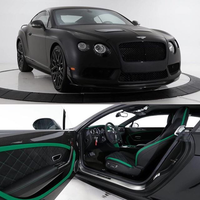 Instagram media by dupontregistry - One Bad Bentley! Check out this blacked out 2015 Bentley Continental GT3-R For Sale for $341,025 by @rusnak_auto_group on #dupontregistry