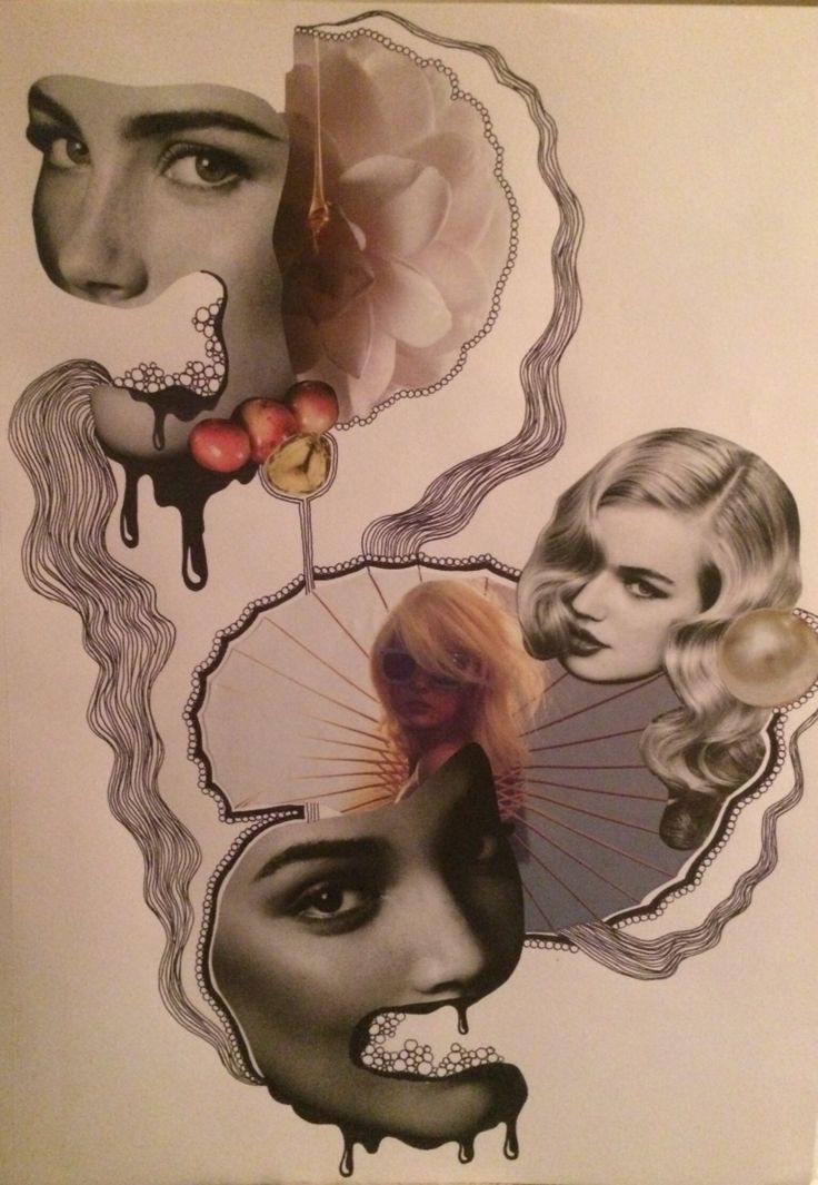 Collage by Justine Eikås | justine-eikaas.com #collage #art #illustration