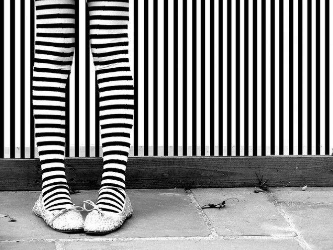 Decorar a rayas: blanco y negro