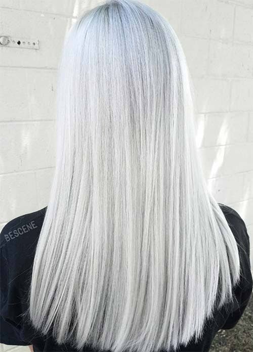 Grey White Silver Bedroom: 85 Silver Hair Color Ideas And Tips For Dyeing