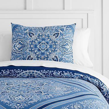 Vintage Diamond Duvet Bedding Set with Duvet Cover, Duvet Insert, Sham, Sheet Set + Pillow Inserts | PBteen