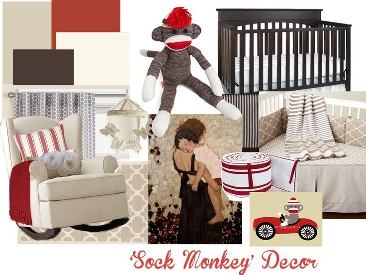 Sock Monkey Decor @Stephanie Ruby Feldman Like? Nothing like planning early lol