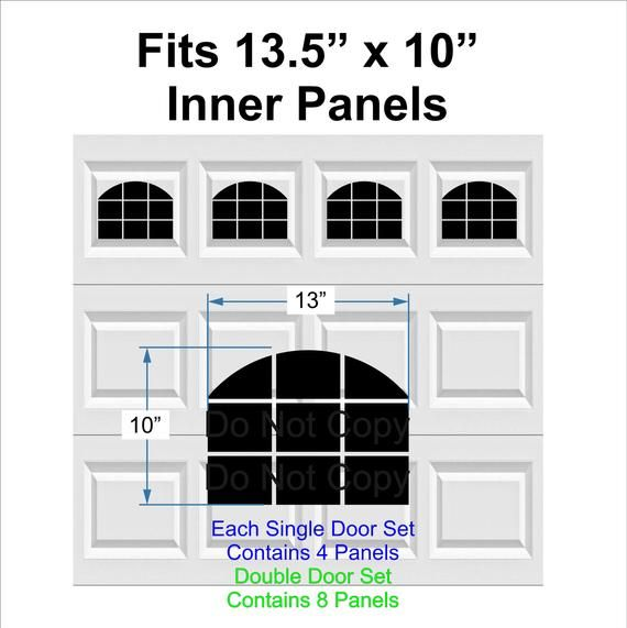 13 X 10 Carriage House Arched Garage Door Window S Faux Window Vinyl Decals This Will Give Your Boring Garage Door Faux Window Window Vinyl Garage Door Types