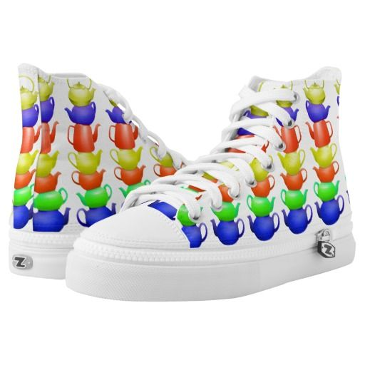 Colorful teapot pattern High-Top sneakers